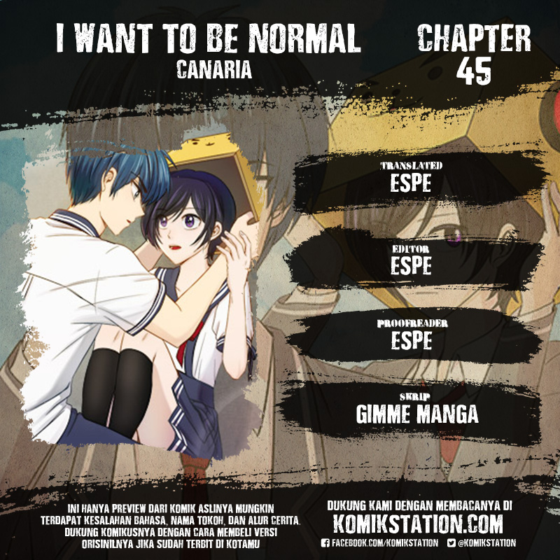 I Want To Be Normal Chapter 45